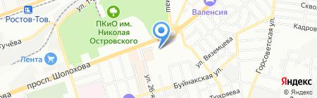 Ива на карте Ростова-на-Дону