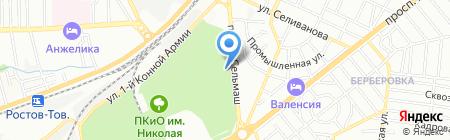 Парк на карте Ростова-на-Дону