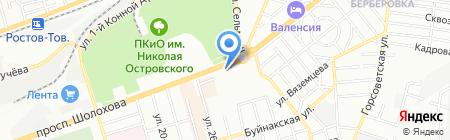 Грот на карте Ростова-на-Дону