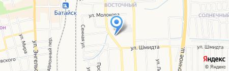 Аптека на Коммунистической на карте Батайска
