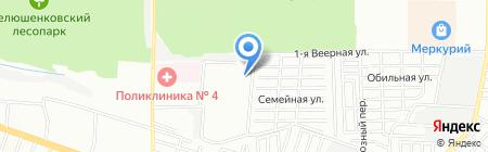 Детский сад №11 на карте Ростова-на-Дону