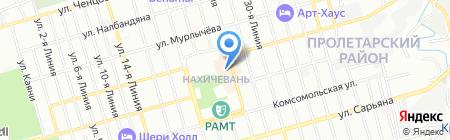 Лазура на карте Ростова-на-Дону