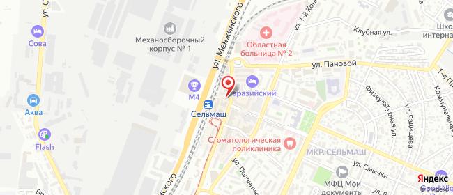 Карта расположения пункта доставки Ростов-на-Дону Сельмаш в городе Ростов-на-Дону