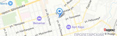 Серник на карте Ростова-на-Дону