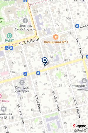 Продуктовый магазин на ул. Мясникова на карте Ростова-на-Дону