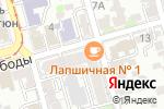 Схема проезда до компании Банана Мама в Ростове-на-Дону