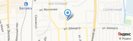 Автомойка на ул. Воровского на карте Батайска