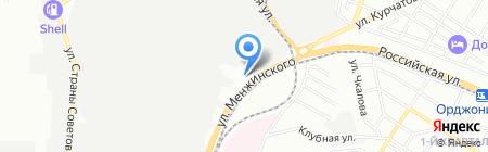 Ростстройцентр на карте Ростова-на-Дону