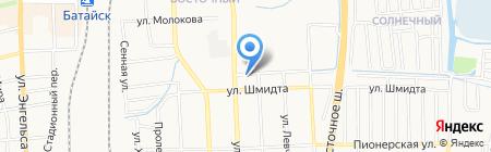 Кафе на ул. Воровского на карте Батайска