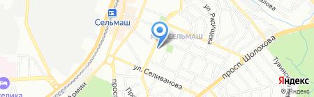 Суши Wok на карте Ростова-на-Дону