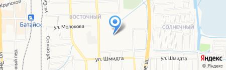 Магазин кондитерских изделий на ул. Воровского на карте Батайска