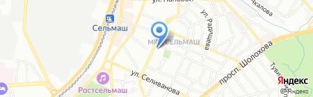 Молоко на карте Ростова-на-Дону