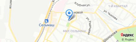 Генацвале на карте Ростова-на-Дону