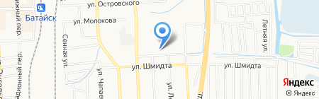 Продуктовый магазин на ул. Воровского на карте Батайска
