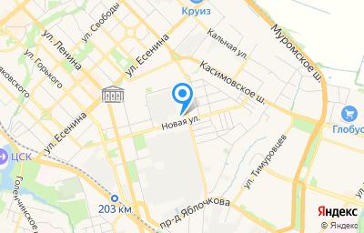 Местоположение на карте пункта техосмотра по адресу г Рязань, ул Новая, д 86