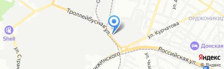 Диванчик-мебель на карте Ростова-на-Дону