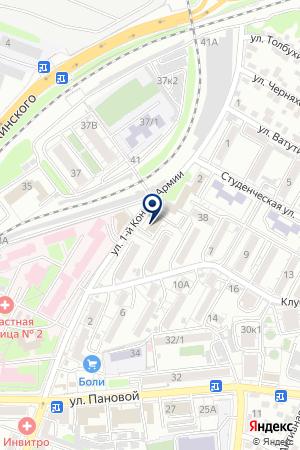 Шиномонтажная мастерская на ул. 1-й Конной Армии на карте Ростова-на-Дону