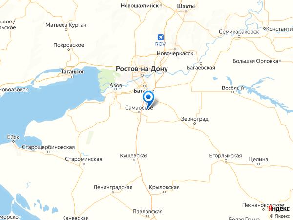 поселок Воронцовка на карте