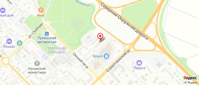 Карта расположения пункта доставки Рязань Окский в городе Рязань