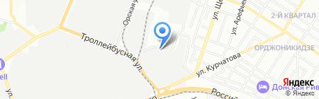Бархан на карте Ростова-на-Дону
