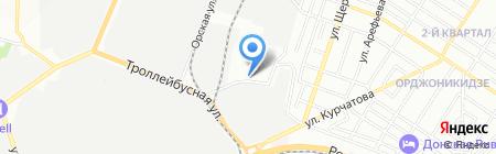 Дон-Вига на карте Ростова-на-Дону