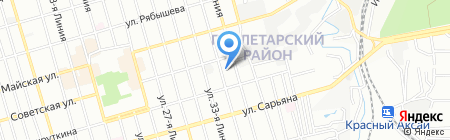 Детский сад №102 на карте Ростова-на-Дону