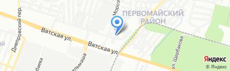 Во дворе на карте Ростова-на-Дону