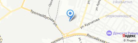 Астарта на карте Ростова-на-Дону