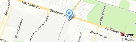 Дом Кровля на карте Ростова-на-Дону
