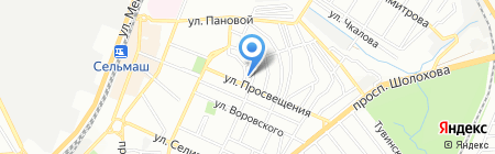 Детский сад №182 на карте Ростова-на-Дону