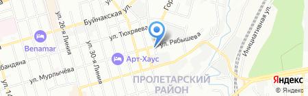 Алвер на карте Ростова-на-Дону