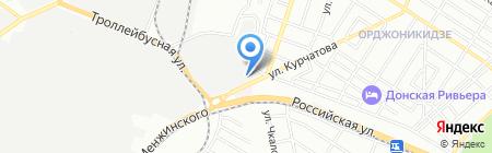 Фабрика карт на карте Ростова-на-Дону