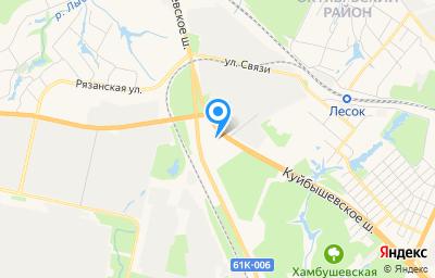 Местоположение на карте пункта техосмотра по адресу г Рязань, ш Куйбышевское, д 42