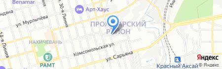 Лига-РВ на карте Ростова-на-Дону