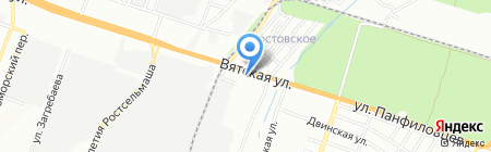 Абамет-Юг на карте Ростова-на-Дону