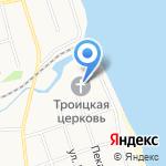 Троицкая церковь на карте Ярославля