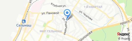 Лукошко на карте Ростова-на-Дону