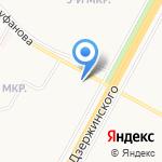 Кокетка на карте Ярославля