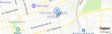 Эмдас на карте Ростова-на-Дону
