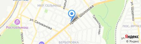 Рита на карте Ростова-на-Дону