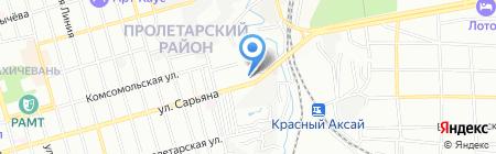Детская школа искусств Пролетарского района на карте Ростова-на-Дону
