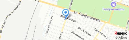 Акрилика-Ростов на карте Ростова-на-Дону