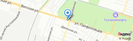 АЗС-ГАЗ-Комплект на карте Ростова-на-Дону
