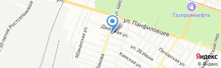 Интерьер на карте Ростова-на-Дону
