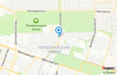 Местоположение на карте пункта техосмотра по адресу г Ростов-на-Дону, ул Орская, д 27