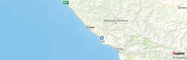 Сочинский национальный парк на карте