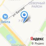 Едоша на карте Ярославля