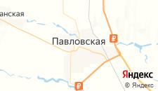 Гостиницы города Павловская на карте
