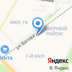 Тигренок на карте Ярославля