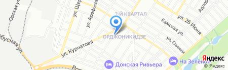 Тавровские мясные лавки на карте Ростова-на-Дону